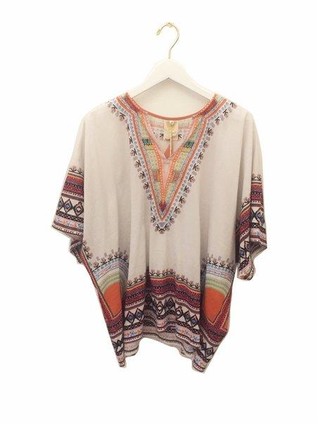 En Shallah African Shirt - White/Orange