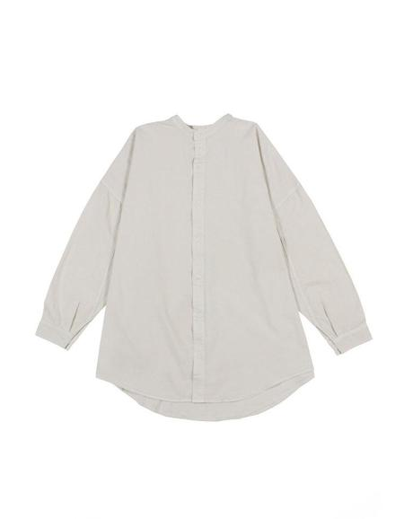 Prospective Flow MEI Banded Collar Shirt - Natural