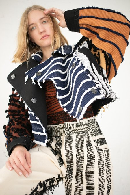 Luna Del Pinal Motocycle Cropped Jacket - Patchwork