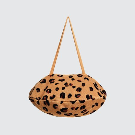 Hansel from Basel Cheetah Pita Bag - Camel