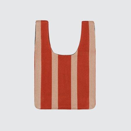 Hansel from Basel Vertical Stripe Shopper Bag - Rust/Natural