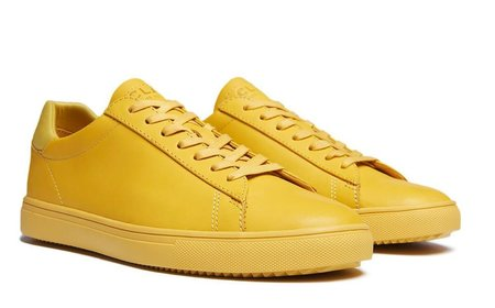 Clae Bradley Full Grain Leather Sneakers - Ochre