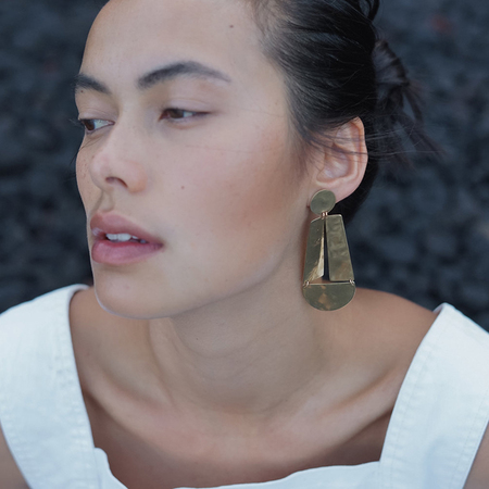 Slantt Studio Camilla Earrings - Brass