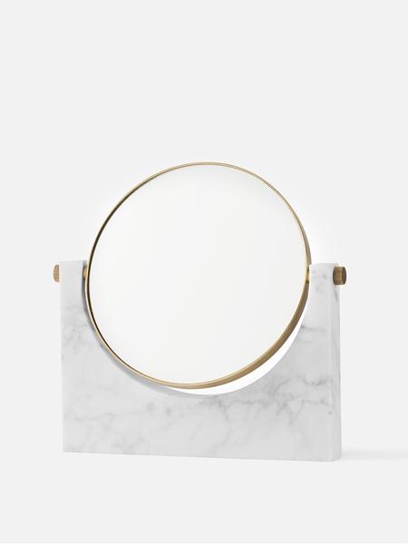 Creative Danes Pepe Marble Mirror - Brass/White