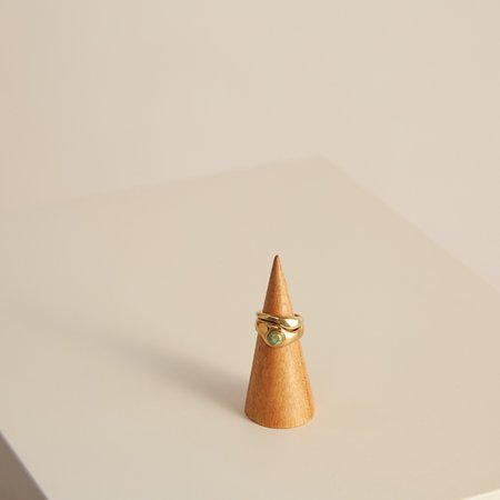 Seaworthy Emmeline Ring Set - Brass/Turquoise