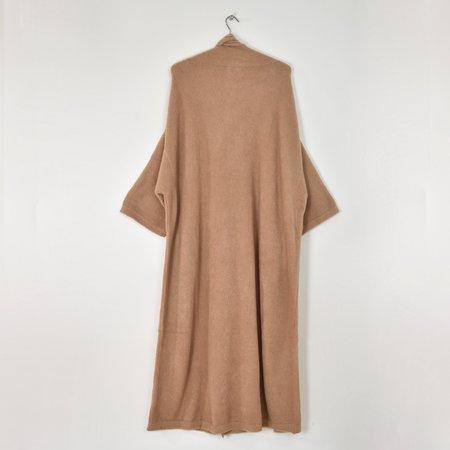 Atelier Delphine Alpaca Haori Extra Long Coat - Nude Rose