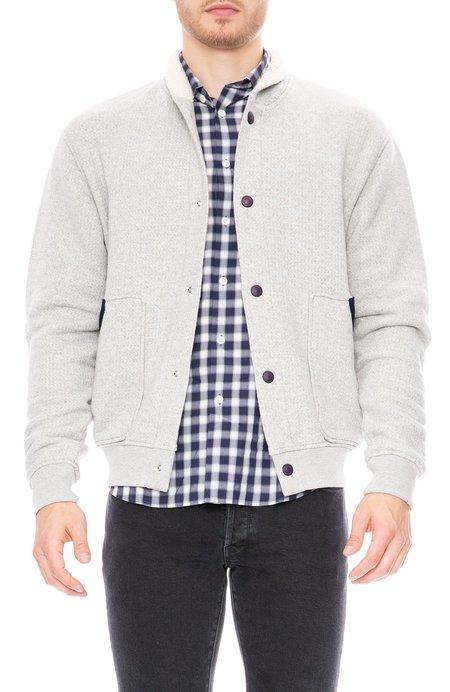 Commune de Paris Textured Cardigan Sweatshirt - Marl Grey