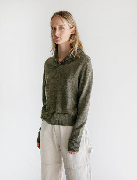 Margaret Howell Shawl Collar Sweater - Sage