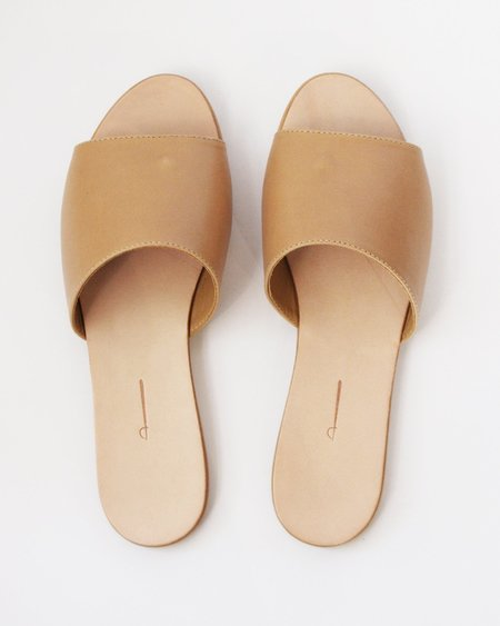 THE PALATINES CAELUM SLIDE - TAN SMOOTH LEATHER