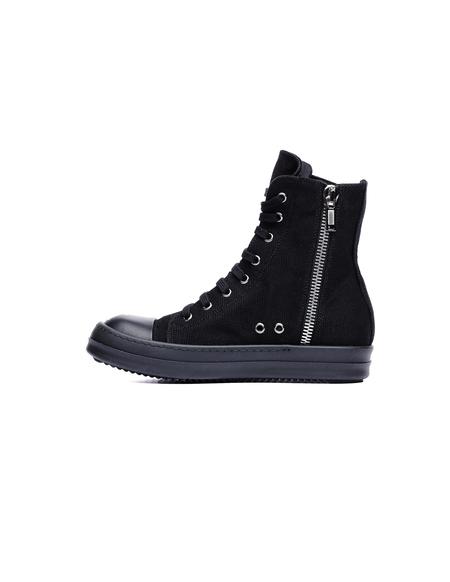 DRKSHDW by Rick Owens Canvas Hi-Top Sneakers - Black