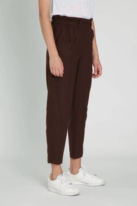 A.Cheng Yogi Pants - Brown Raw Silk