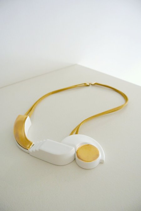MARION VIDAL BALLADE II NECKLACE - GOLD/WHITE
