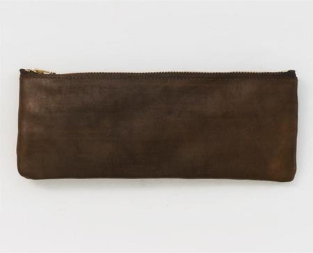 Apron & Bag Leather Pencil Pouch - Brown