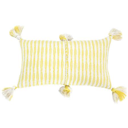 Archive New York Antigua Pillow - Naturally Dyed Yellow + White Stripe