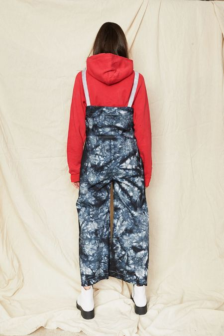Assembly New York Tie Dye Dungarees - blue