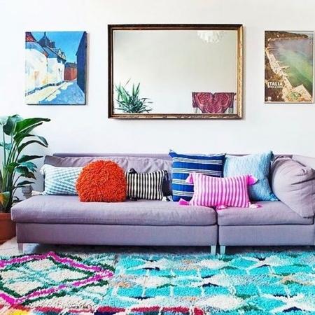 Archive New York Antigua Pillow - Neon Pink