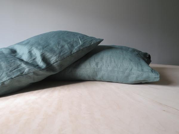 Lissu Linen Pillowcase Set - Forest Green