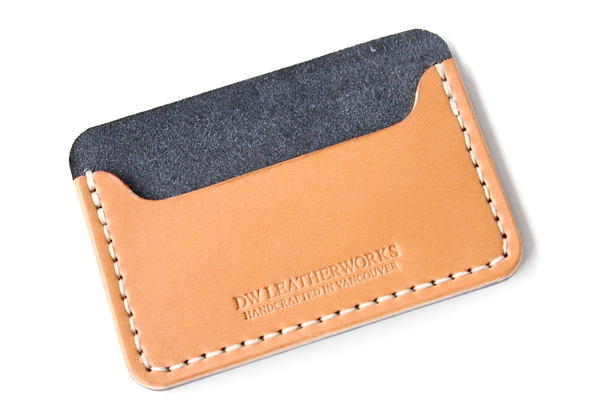 DW Leatherworks Card Wallet - Black/Tan