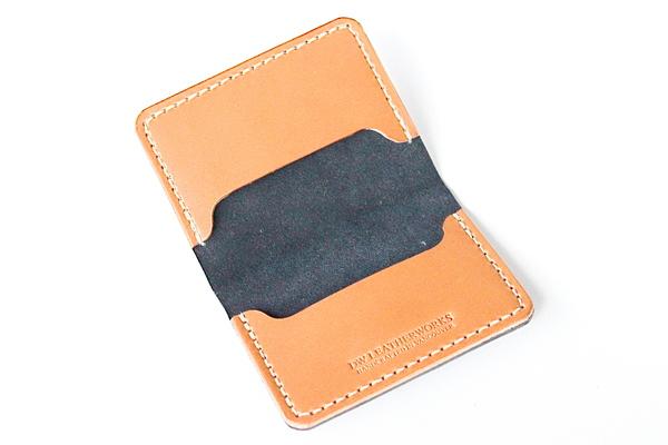 DW Leatherworks Folded Card Wallet - Black/Tan