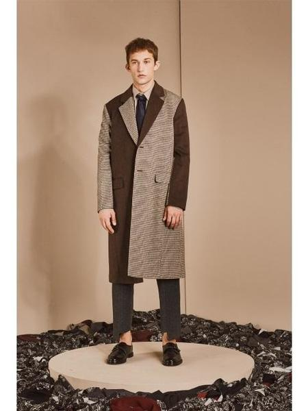 Unisex DEFOND Mix Classic Two Button Coat - Brown