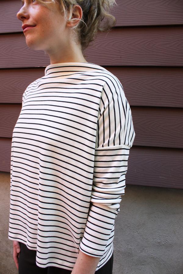 Hutchison Black and White Striped Top
