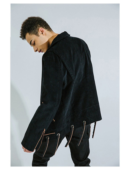 DOZOH ZIP DETAILED CORDUROY JACKET - One Color