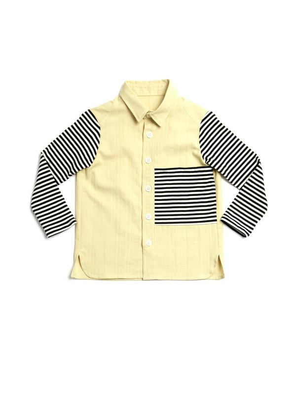 Kid's Noch Mini Stripe Knit Shirt