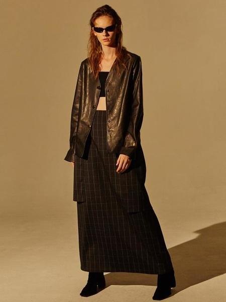 EENK INGRID Back Ribbon Point Long Dress