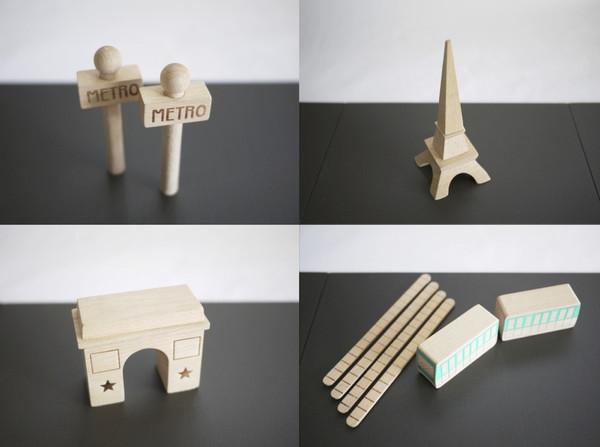 Kukkai Wooden Machi Paris Set