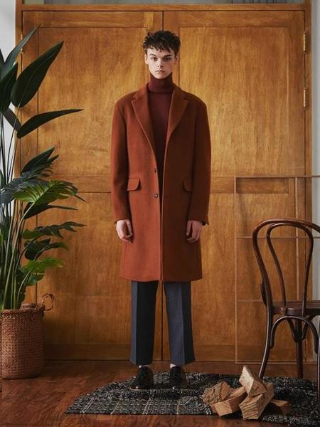 By Standard Soft Wool Coat - Brick Red