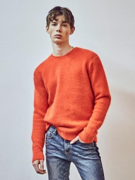 YAN13 Super Angora Sweater - Orange