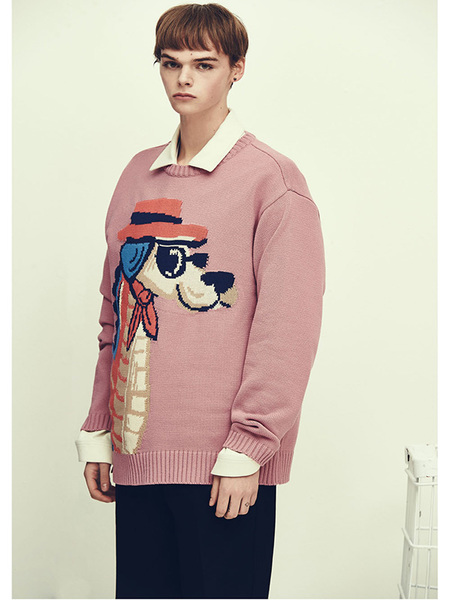 Unisex BC BY BEYONDCLOSET Collection Line Seahorse Dog Knit - Pink
