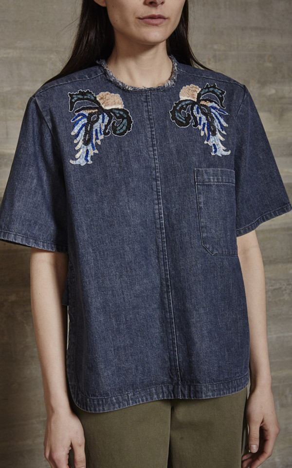 RACHEL COMEY PATCH BRANT TOP