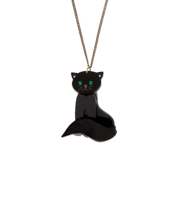 Tatty Devine Midnight Cat Necklace