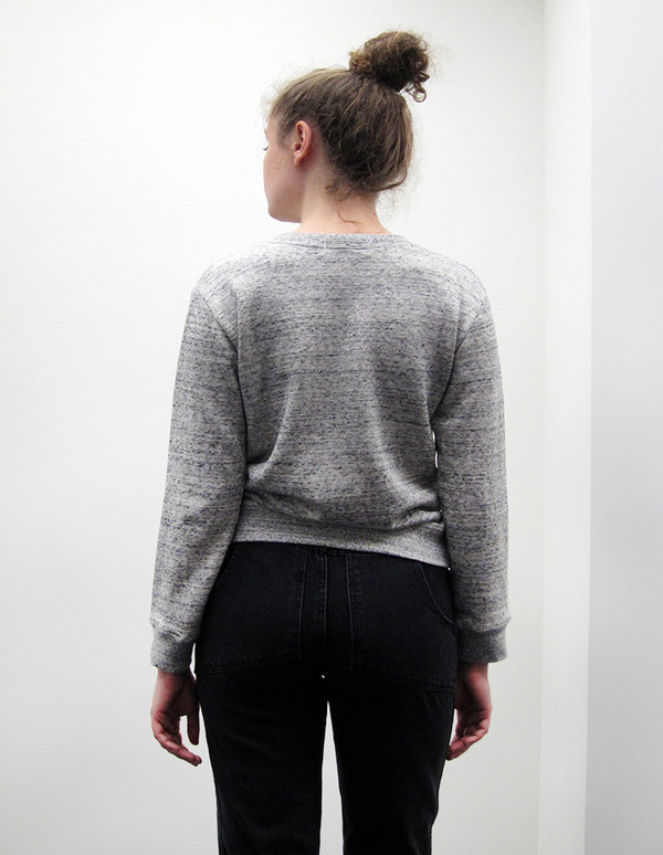 Correll Correll Grey Square Sweatshirt