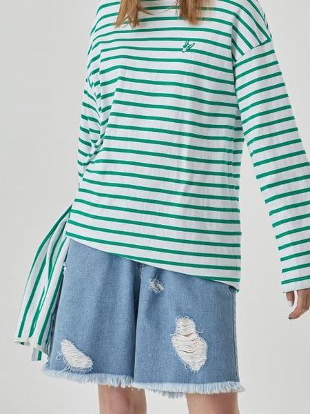 Bubulee Denim Shorts - Blue