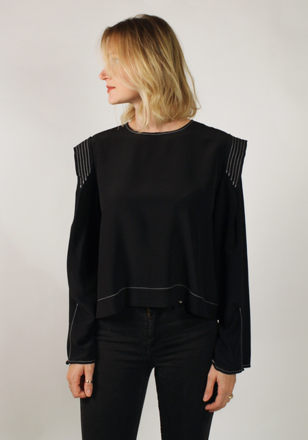 Winsome Edith Top - BLACK