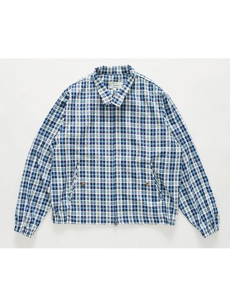 BRUMAN Check Harrington Jacket - Blue