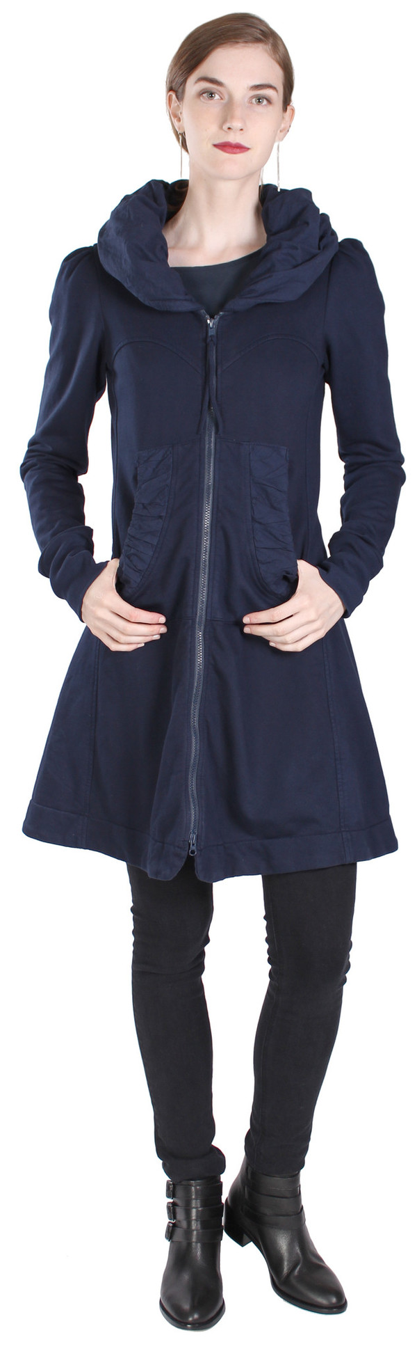 Prairie Underground Long Cloak Hoodie in Midnight