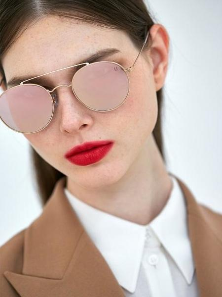 COLLABOTORY Thursday Sunglasses - Rose Gold/Pink Mirror