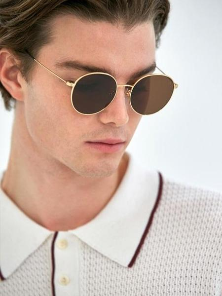 Unisex COLLABOTORY Tuesday Sunglasses - Gold/Brown