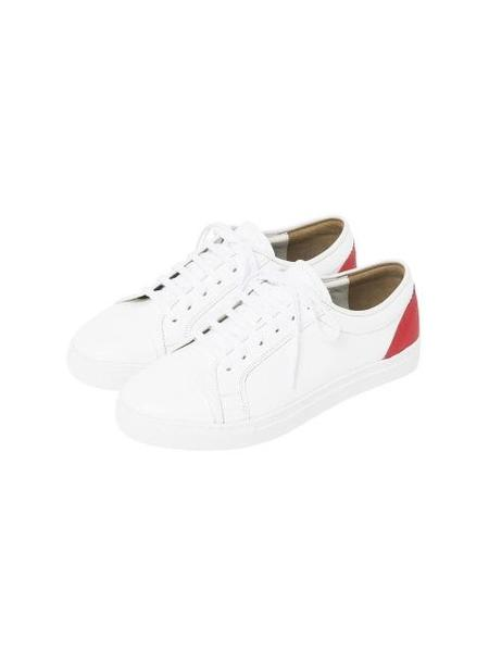 COMME.R Sheepskin Casual Sneakers - Red