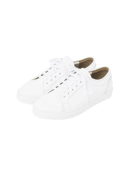 COMME.R Sheepskin Casual Sneakers - White