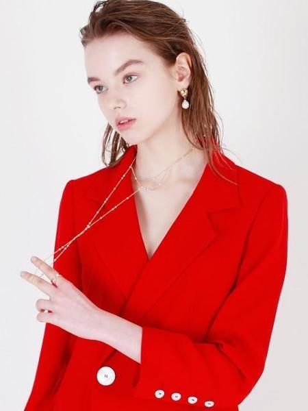 DE LA LUNE Pearl Beauty Berry Necklace - Gold/Silver