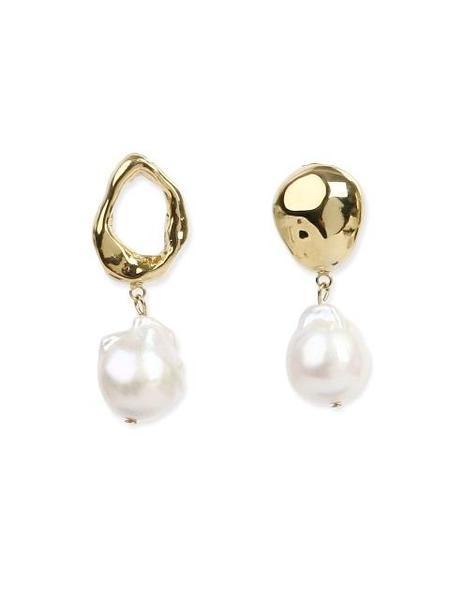 DE LA LUNE Pearl Pebbles Earring - Gold/Silver