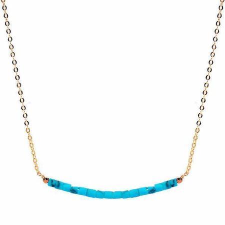 Meus Turquoise Necklace - Blue
