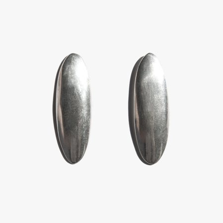 Found By Kindred Black Vintage Sterling Oval Earrings