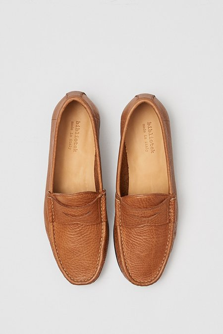 Bibliotek Leather Penny Loafer - Brown