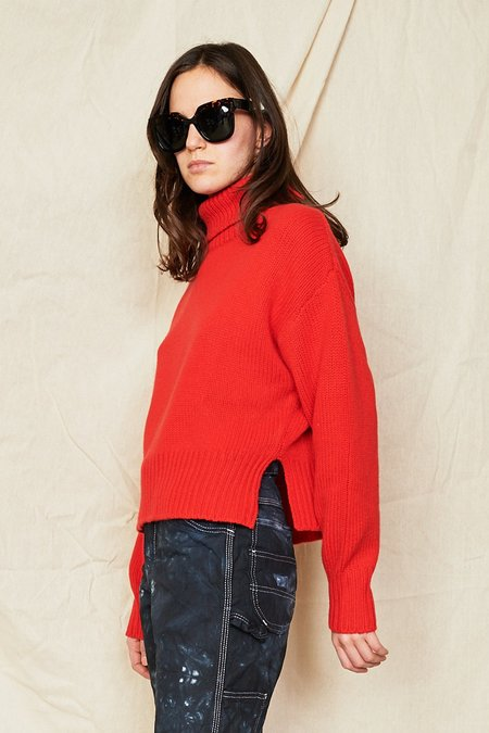 Demy Lee Cashmere Walker Sweater - red