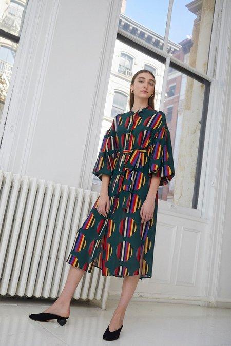 Whit Etta Dress - Camera Stripe